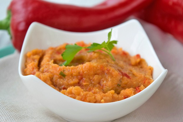 Linsencreme mit Paprika