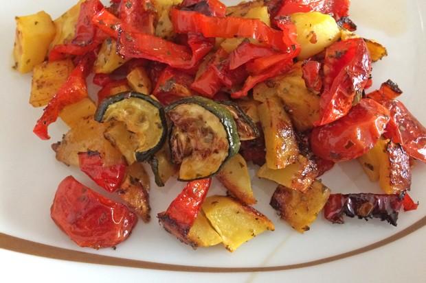 Gemüsepfanne aus dem Backrohr