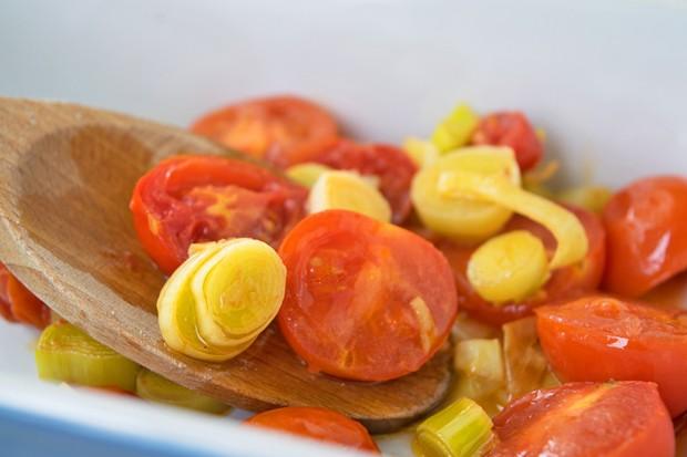 Lauch-Tomaten-Gemüse