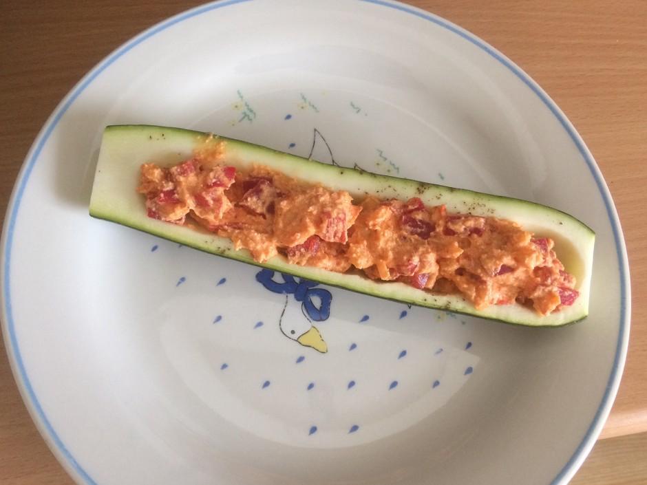 Gegrillte Zucchini mit Ricotta