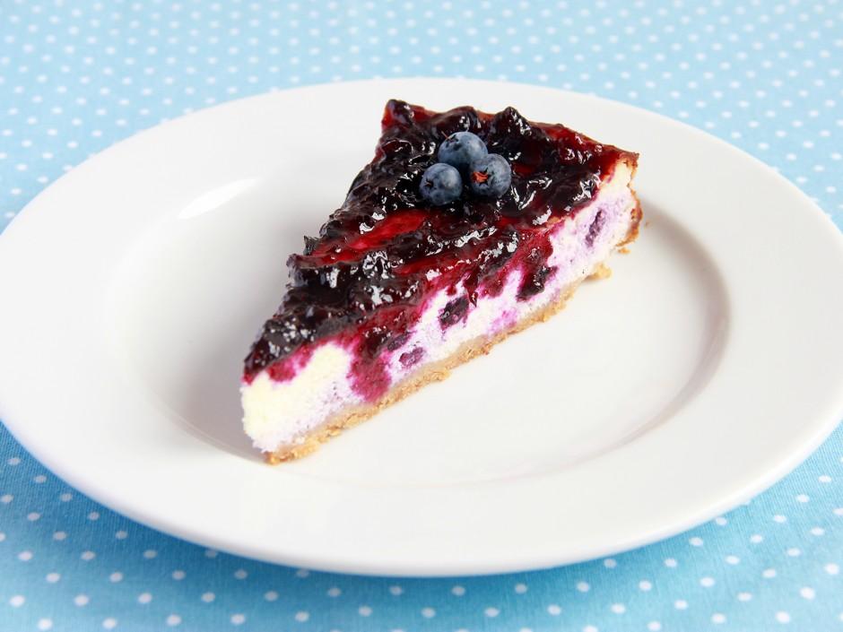Heidelbeer Cheesecake ohne backen