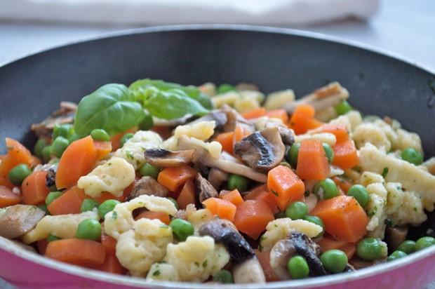 Gemüse-Spätzle-Pfanne