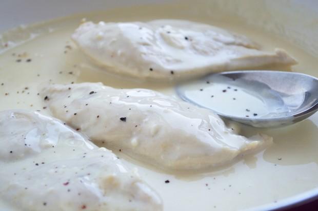 Putenschnitzel in Käsesauce