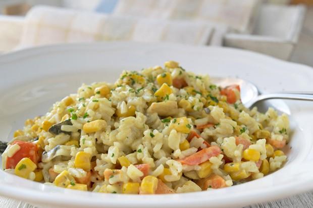 Gemüse-Reis-Wok