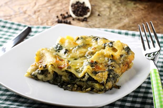 Ricotta-Spinat-Lasagne