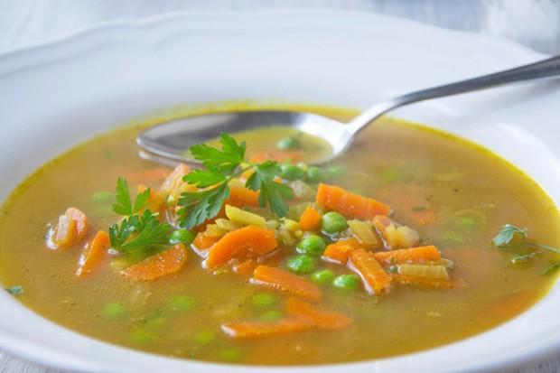 Vegane Currysuppe