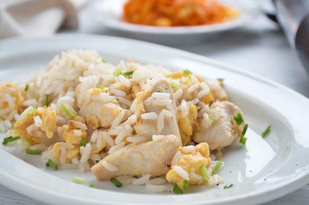 Hühnerpfanne mit Reis