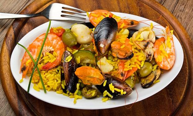 Paella de marisco (mit Meeresfrüchten)