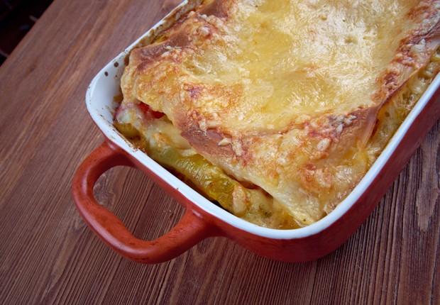 Gemüse-Lasagne mit Schafkäse