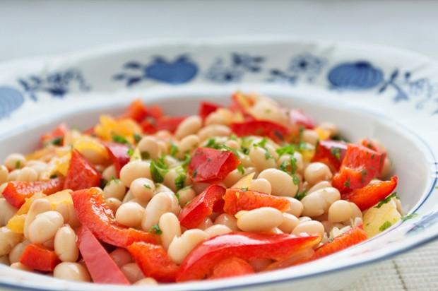 Paprika-Bohnen Salat