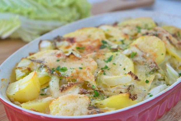 Kartoffel-Chinakohl-Gratin