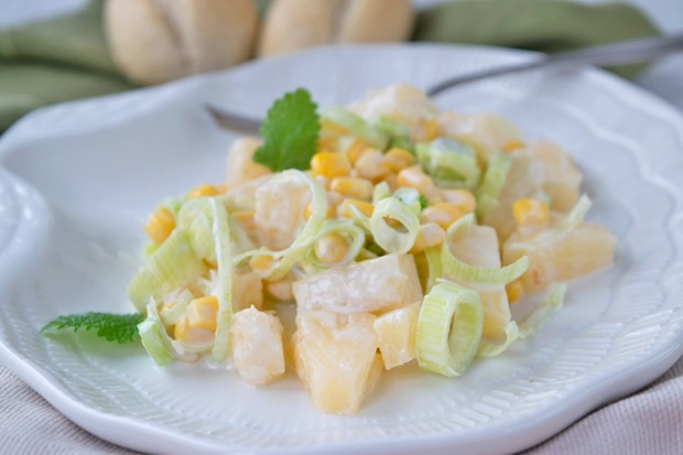 Lauch-Ananas-Salat