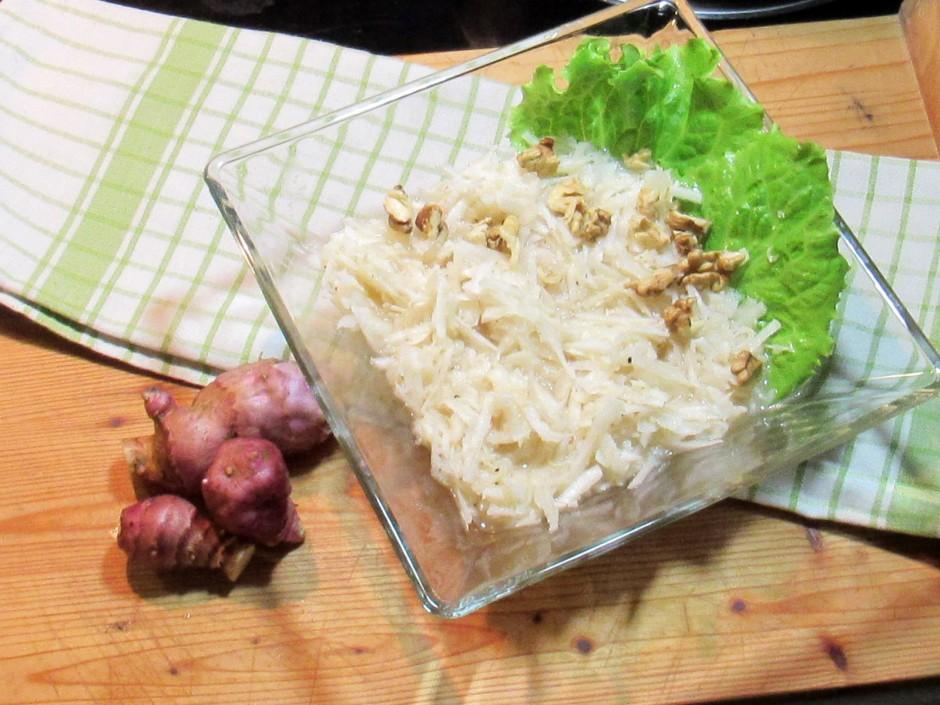 Salat von Topinambur und Kren