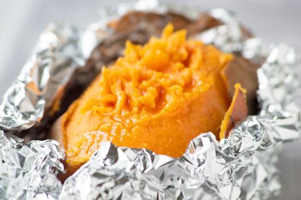 Süßkartoffel gebacken