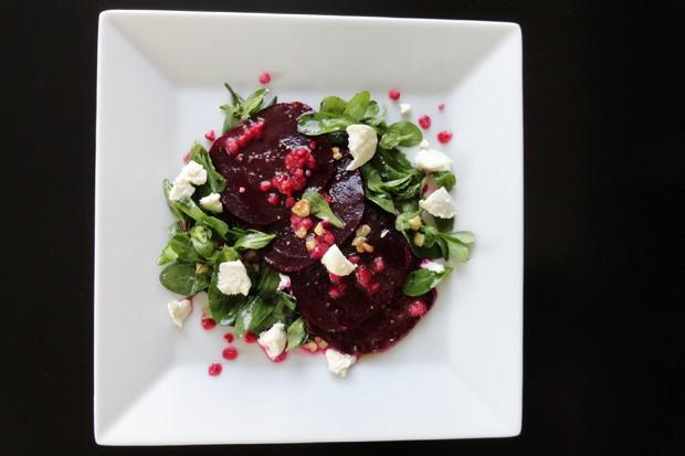 Rote Beete-Salat mit Himbeeren