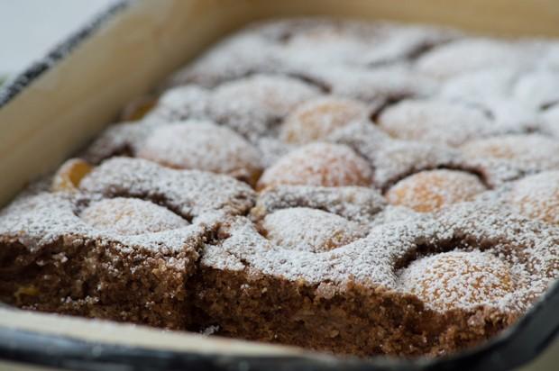 Dunkler Marillenkuchen