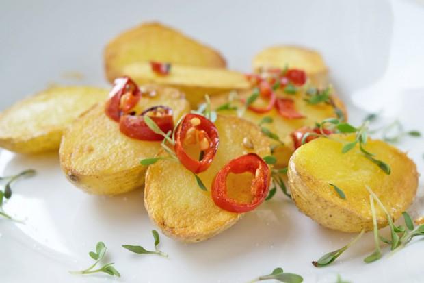 Chilikartoffeln aus dem Ofen