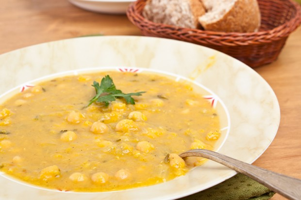 Kichererbsen-Cremesuppe