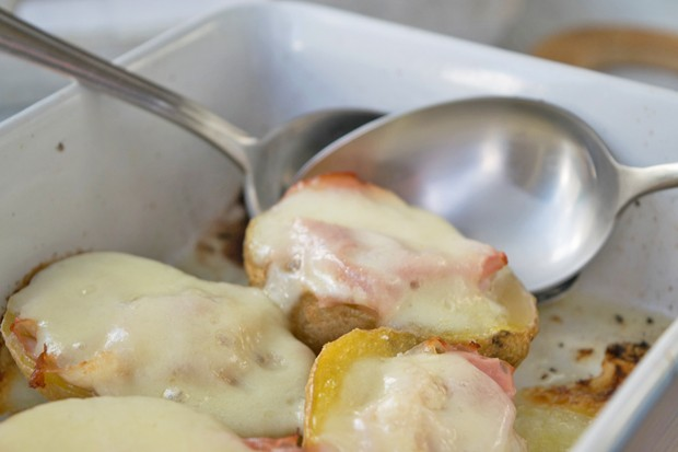 Kartoffel mit Mozzarella
