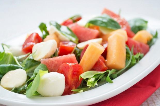 Melonen-Käse-Salat