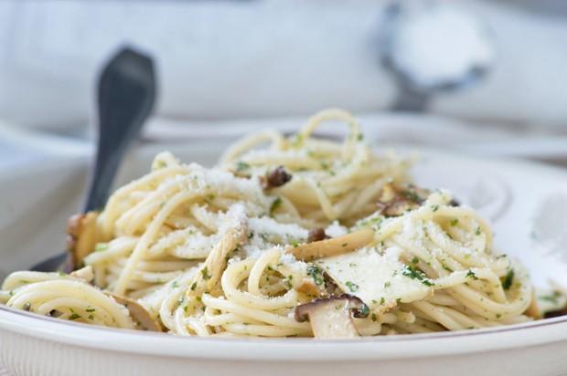 Spaghetti in Pilz-Sauce