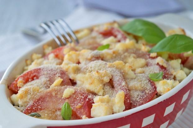 Tomaten-Schafkäse-Gratin