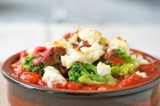 Tomaten-Brokkoli-Gemüse
