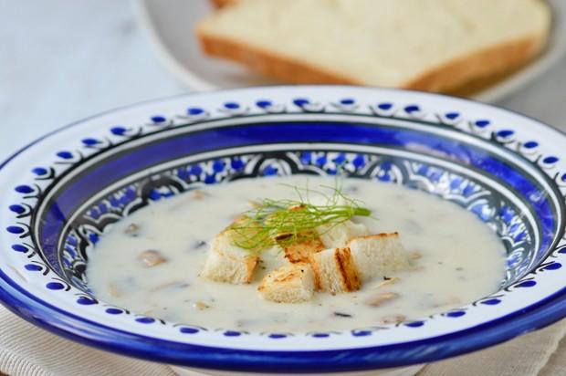 Pilz-Käse-Suppe