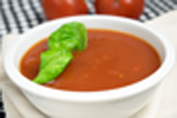 Geeiste Tomatensuppe