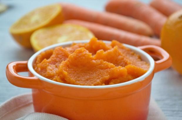 Fruchtiges Karotten-Orangen-Püree