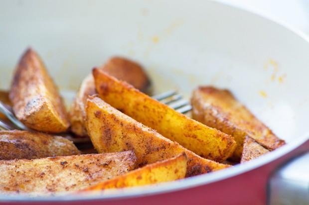 Kartoffelecken mit Paprika