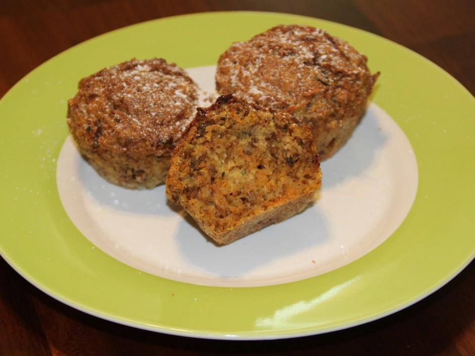 Karotten-Zucchini Muffins