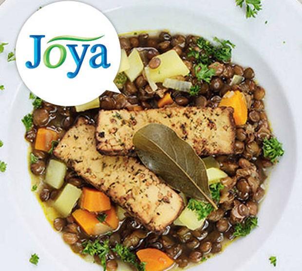 Veganer Linseneintopf mit Tofu