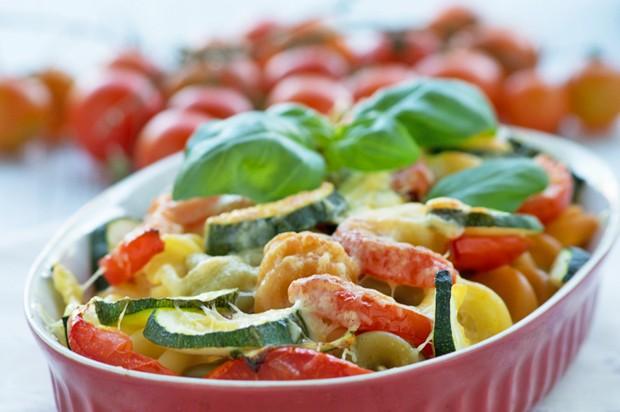 Gemüseauflauf mit Nudeln