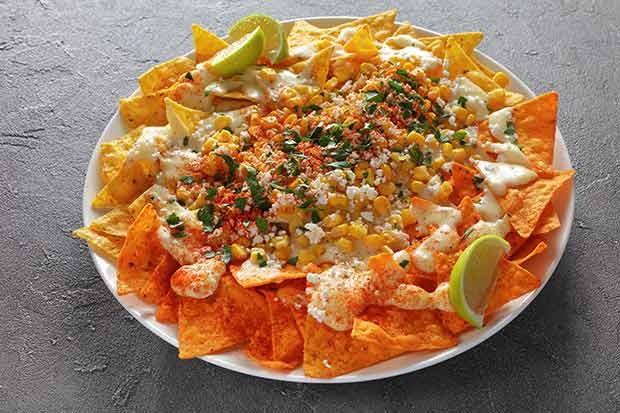 Überbackene Tortilla Chips