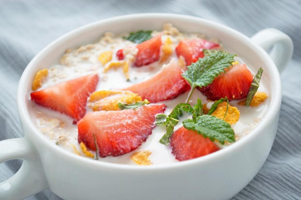 Erdbeer-Minz-Müsli
