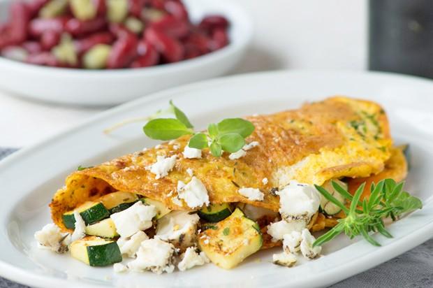 Zucchini-Feta-Omlette