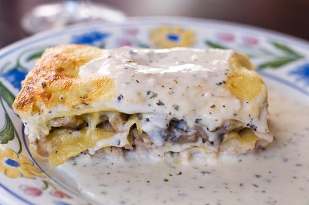 Lasagne mit Steinpilz und Gorgonzola