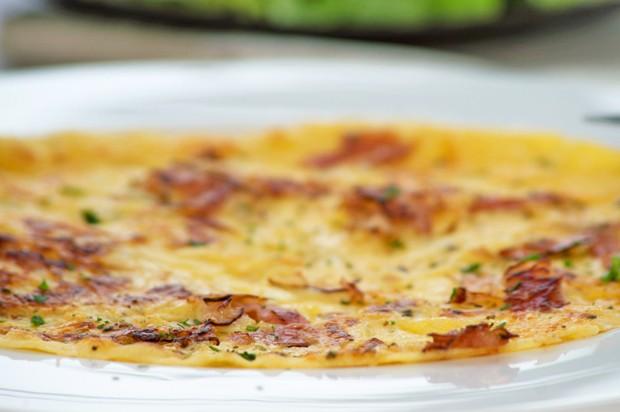 Omelett auf Pizzaart
