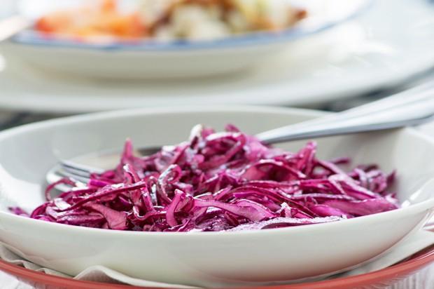 Einfacher Rotkrautsalat