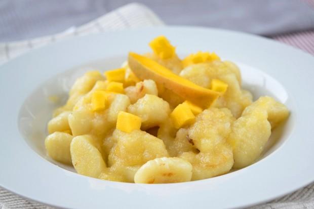 Apfel-Mango Gnocchi