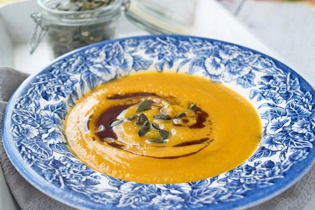 Orangen-Kürbis Suppe