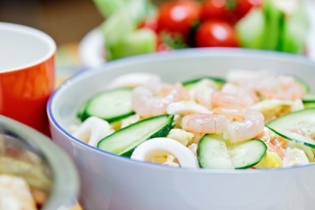 China-Gurkensalat mit Shrimps