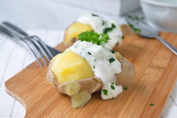 Kartoffeln mit Sour Creme