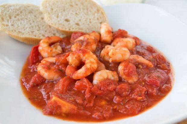 Tomaten-Knoblauch-Garnelen