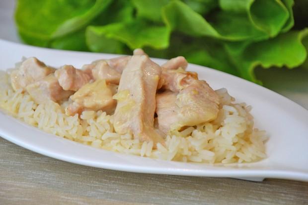 Geschnetzeltes mit Reis