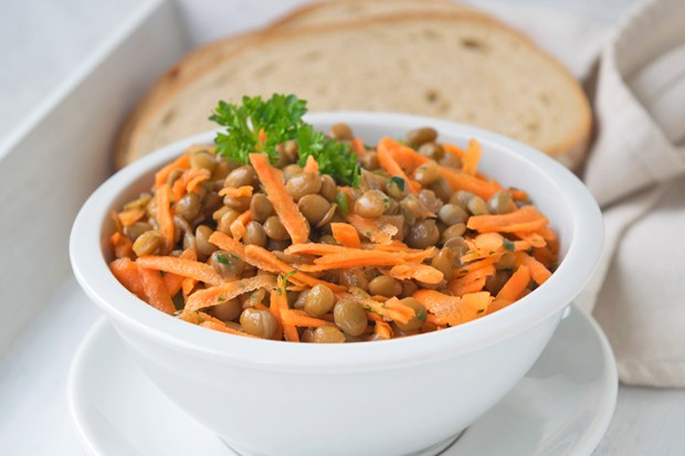 Linsensalat mit Karotten