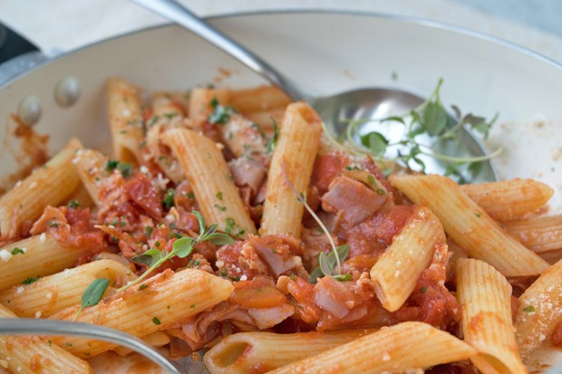 Penne in feuriger Chilisauce