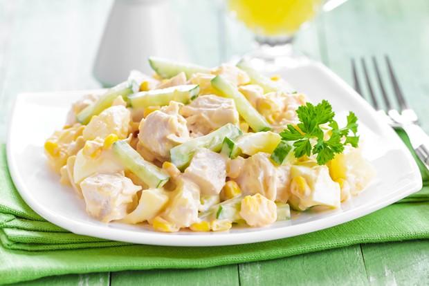 Puten-Ananas-Salat