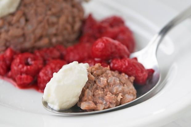 Schoko-Milchreis-Dessert